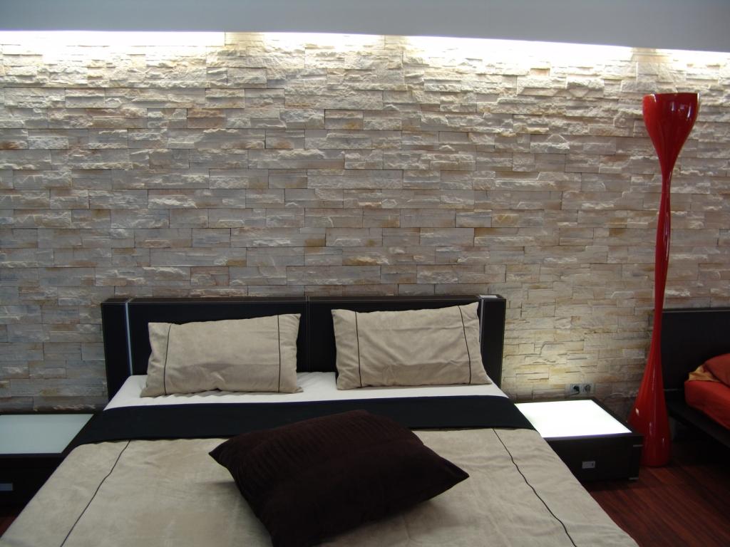 Schlafzimmer Ideen Wandgestaltung Stein | olegoff.com