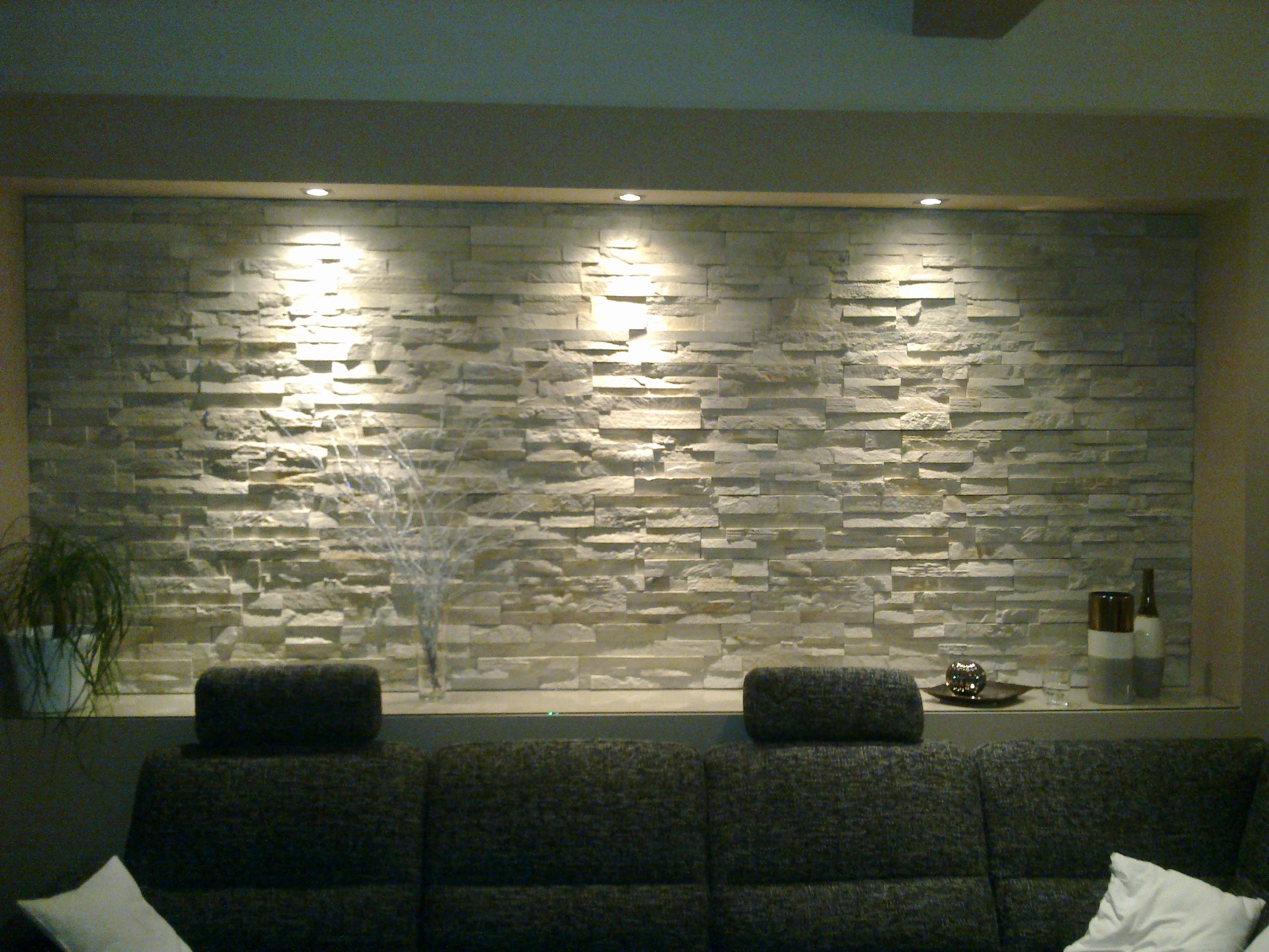 Bevorzugt moderne Steinwand für den Selbsteinbau, Steine an die Wand kleben CU22