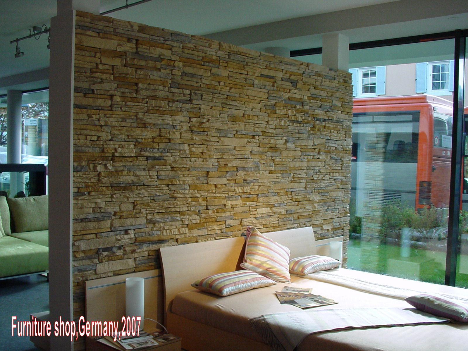 Moderne Steinwand für Ihr Wohnzimmer, Schlafzimmer neu mit ...