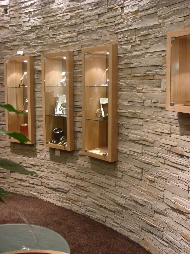 moderne Steinwand für den Selbsteinbau, Steine an die Wand ...